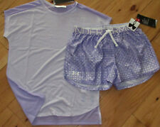 Under Armour Threadborne lavender top & patterned shorts set NWT girls L YLG