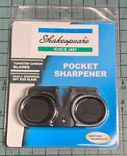SHAKESPEARE Tungsten Carbide Pocket Sharpener - Easily sharpens any blade size