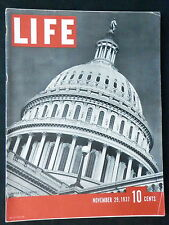 LIFE Magazine November 29, 1937 COCA-COLA - SENATE - KKK - SUPREME COURT PHOTO