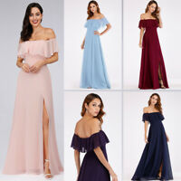 US Ever-Pretty Chiffon Long Bridesmaid Dress Formal Evening Homecoming Prom Gown