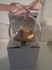 Avon Snow Globe Rose Gold Snowflake Earrings ~ Holiday ~  Christmas  NEW IN BOX