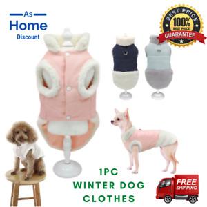 Pet Dog Clothes Warm Fleece Winter Coat Jacket Walking Vest Harness Small/Large