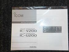 ICOM IC-V200/U200 TRANSCEIVERS INSTRUCTION MANUAL