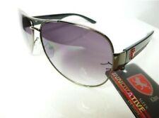 Gafas de sol de hombre negras de metal, de 100% UV400