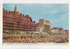 Metropole Hotel & Promenade Brighton 1963 Postcard 831a