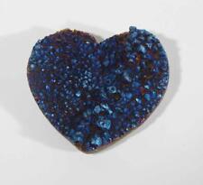 Rainbow Aura Quartz Crystal Heart Specimen #HR14