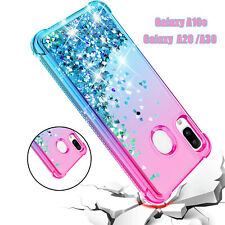 For Samsung Galaxy A10e /A20 Case Liquid Glitter Bling HD Sreen Protector Cover
