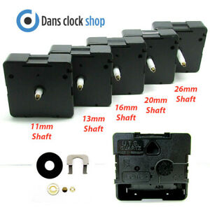 Replacement Quartz UTS Euroshaft German Clock Movement Mechanism Various Sizes