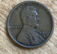 FREE SHIPPING! 1919 S Lincoln Wheat Cent -102 Year Old Penny -San Francisco A11