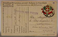 POSTA MILITARE 19 FRANCHIGIA 22.9.1917 #XP348B