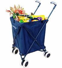 VersaCart Transit Original Folding Shopping and Utility Cart, Water-Resistant