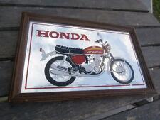 cadre miroir décoratif vintage HONDA 750 FOUR 1969 collection Motard Nostalgique