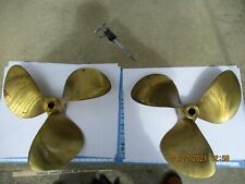 Columbia HydroLite Nibral Bronze Propellers Matched Set 21 x 23-1 3/8 Inch Shaft
