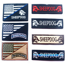 7 PCS SHEEPDOG USA FLAG U.S. TACTICAL ARMY EMBROIDERY MORALE BADGE PATCH