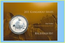 2011 $1 Kangaroo Silver Frosted Uncirculated 1 oz. Coin - Allied Rock-Wallaby