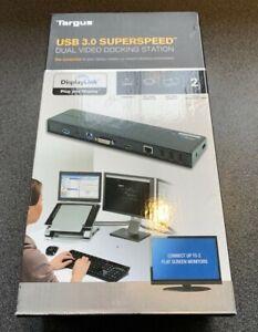 Targus USB 3.0 Dual Video Docking Station USB 3.0 DVI & HDMI New unused Boxed