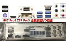 ATX Blende I/O shield ASRock H87 Pro4 Z87 Pro3 io backplate bracket new #G399 XH