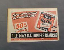 PUB PUBLICITE ANCIENNE ADVERT CLIPPING 140517 PILE MAZDA SPECIAL LUMIERE BLANCHE