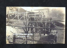 REAL PHOTO BITUMEN PENNSYLVANIA COAL MINE MINING MINERS POSTCARD COPY PA.