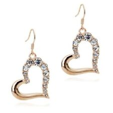 Crystal Rose Gold Plated Drop/Dangle Fashion Earrings