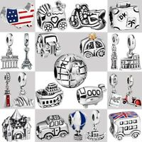 2018 Genuine Fine European Charms For Fashion 925 Silver Sterling Bead Bracelet