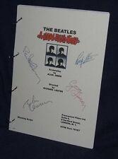 Movie Script - Cast Signed - Hard Days Night - Beatles