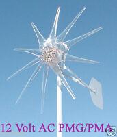 WIND TURBINE WIND GENERATOR 900W 11 BLADE CLEAR 12 Volt AC 3-PHASE PMG