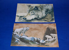 "#10185 WOLF/WOLVES 5"" X 7"" BLANK GREETING CARDS AND ENVELOPES PACK OF FOUR"