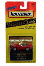 Matchbox World Class Vehicles Dodge Viper