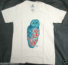 """Paul Frank T-Shirt Oatmeal  """" Owl See You Later """"  V-Neck 100% Cotton"""