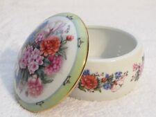 """Younger Than Springtime"" Danbury Mint Porcelain Music Jewelry Trinket Box"