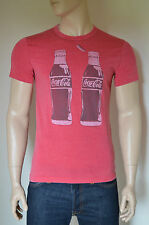 NEW Abercrombie & Fitch Coca-Cola Coke Bottle Vintage Graphic Tee T-Shirt Red L