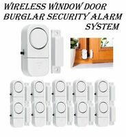 1/5/10Pcs Wireless Window Door Burglar Security Alarm System Magnetic Sensor