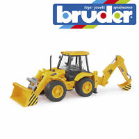 Bruder JCB 4CX Backhoe Loader Construction Digger Toy Kids Model Scale 1:16
