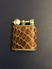VINTAGE  FRENCH POCKET CIGARETTE LIGHTER ,LEATHER WRAP,C.1930