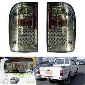 FIT 1998-2004 Toyota Hilux Mk4 Mk LED Tail Light Rear Lamp Smoke Black Len
