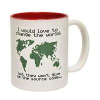 Change The World Source Code Tea Novelty Geek Nerd MUG cup birthday funny gift