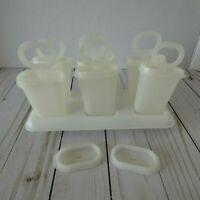 Vintage Tupperware Popsicle Ice Set Tups Molds Tray #481  21 Pc Set