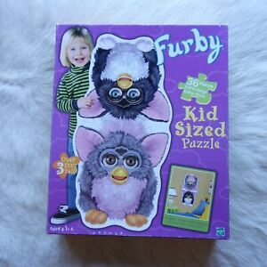 FURBY PUZZLE Toy Puzzle Hamster Puzzle Owl Puzzle KIDS SIZED 3FT 1999 MB Puzzle