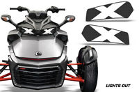 Headlight Eye Graphics Kit Decal Cover For Can-Am Spyder F3 Roadster LIGHTS OUT