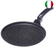 Moneta Etnea Piastra, Alluminio Antiaderente Effetto Pietra, Nero, 32 cm (32 cm)