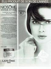 Publicité Advertising 018  1987   Lancome cosmétiques creme  & Isabella Rosselli