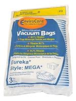 Eureka Mega Canister Vacuum Micro Filtration Paper Bags 3 Pk Part 312