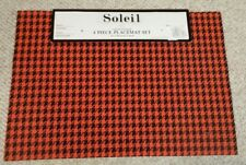 4 FALL ORANGE BLACK HOUNDSTOOTH  Placemats * Wipeable INdoor OUTdoor * 8 availab