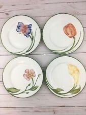 """PIER 1 """" Floral"""" Dessert/Salad Plates - 7 3/4"""" Set of 4"""