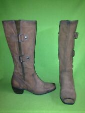 Slate Brown Soft Leather MJUS Boots 10 41
