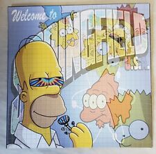 """Simpsons """"Welcome to Springfield Blotter Art DOUBLE SIDED Simpsons blotter art"""