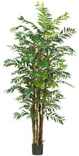 New Large Full 7' Artificial Fake Silk Bamboo Tree Real Wood Trunks - Nn5250