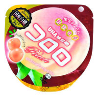 Japanese KORORO Pinky Peach Super Soft Gummy Yummy Candy Japan UHA budoh jelly