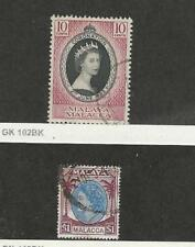 Malaya - Malacca, Postage Stamp, #27, 42 Used, 1953-54